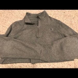 Boys gray pullover half zip